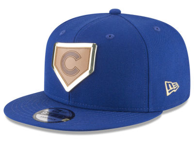 Chicago Cubs New Era MLB Framed Leather 9FIFTY Snapback Cap