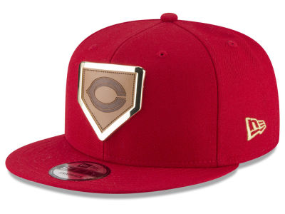 Cincinnati Reds New Era MLB Framed Leather 9FIFTY Snapback Cap