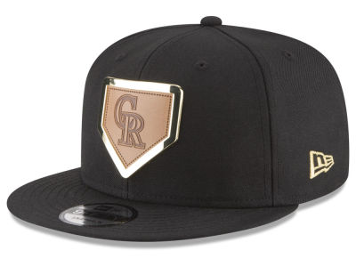 Colorado Rockies New Era MLB Framed Leather 9FIFTY Snapback Cap