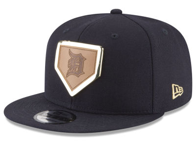 Detroit Tigers New Era MLB Framed Leather 9FIFTY Snapback Cap