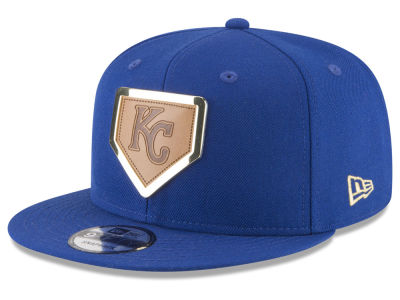 Kansas City Royals New Era MLB Framed Leather 9FIFTY Snapback Cap