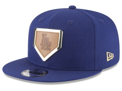 Los Angeles Dodgers New Era MLB Framed Leather 9FIFTY Snapback Cap