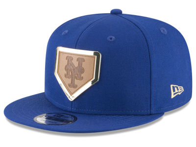 New York Mets New Era MLB Framed Leather 9FIFTY Snapback Cap