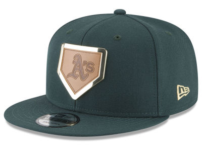 Oakland Athletics New Era MLB Framed Leather 9FIFTY Snapback Cap