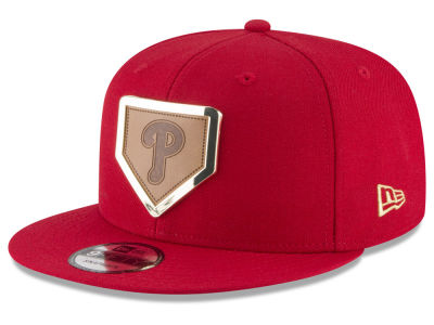 Philadelphia Phillies New Era MLB Framed Leather 9FIFTY Snapback Cap