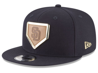 San Diego Padres New Era MLB Framed Leather 9FIFTY Snapback Cap