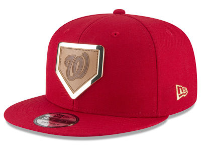 Washington Nationals New Era MLB Framed Leather 9FIFTY Snapback Cap