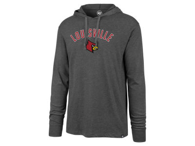 Louisville Cardinals '47 NCAA Men's Long Sleeve Focus Hooded T-Shirt