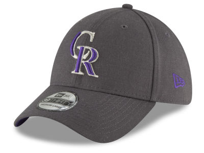 Colorado Rockies New Era MLB Charcoal Classic 39THIRTY Cap