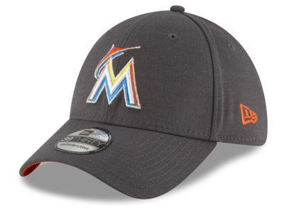 Miami Marlins New Era MLB Charcoal Classic 39THIRTY Cap