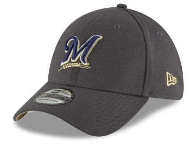 Milwaukee Brewers New Era MLB Charcoal Classic 39THIRTY Cap