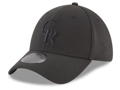 Colorado Rockies New Era MLB Blackout 39THIRTY Cap