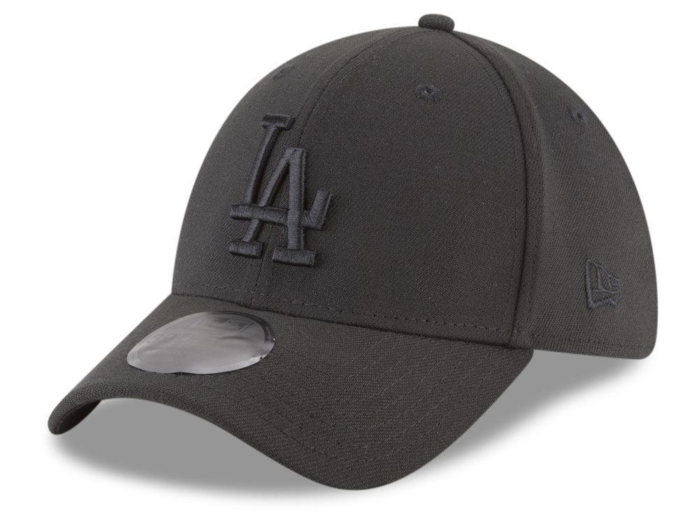 96d09817c49 Los Angeles Dodgers New Era MLB Blackout 39THIRTY Cap