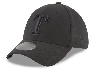 Texas Rangers New Era MLB Blackout 39THIRTY Cap
