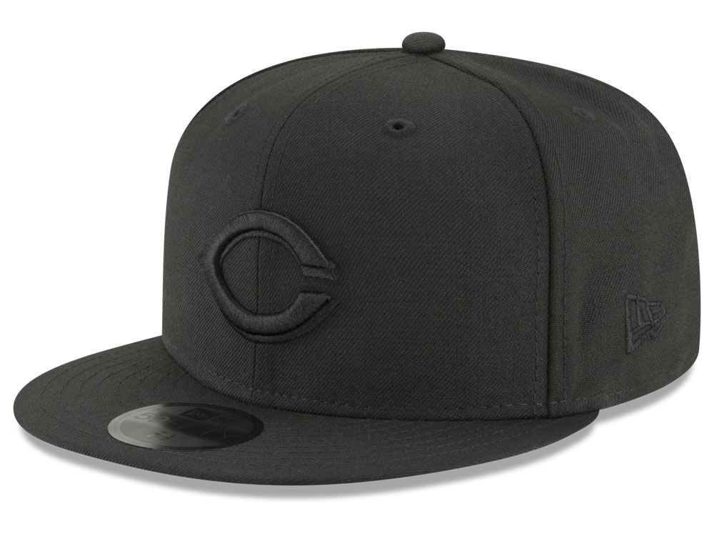 premium selection 4b6cd d9656 ... australia cincinnati reds new era mlb blackout 59fifty cap lids fd307  5c607