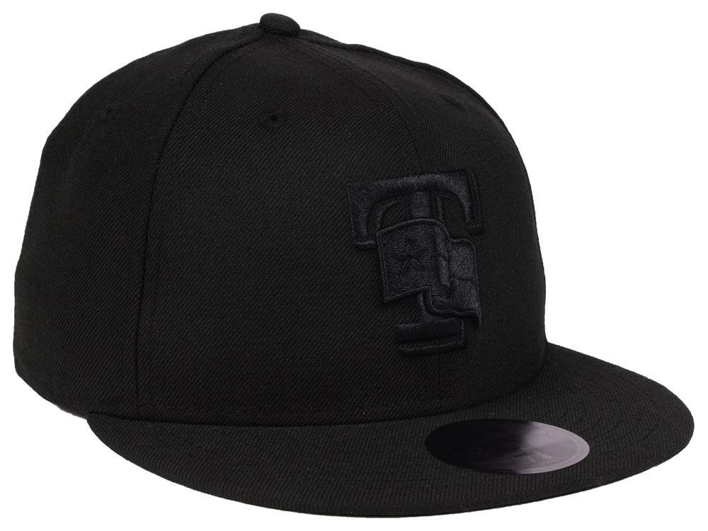 6edcedfde8f Texas Rangers New Era MLB Blackout 59FIFTY Cap