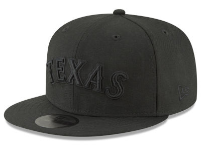 Texas Rangers New Era MLB Blackout 59FIFTY Cap