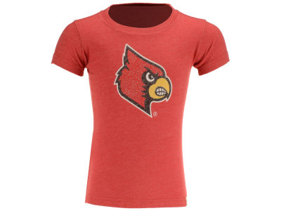 Louisville Cardinals NCAA Toddler Girls Glitter Logo T-Shirt