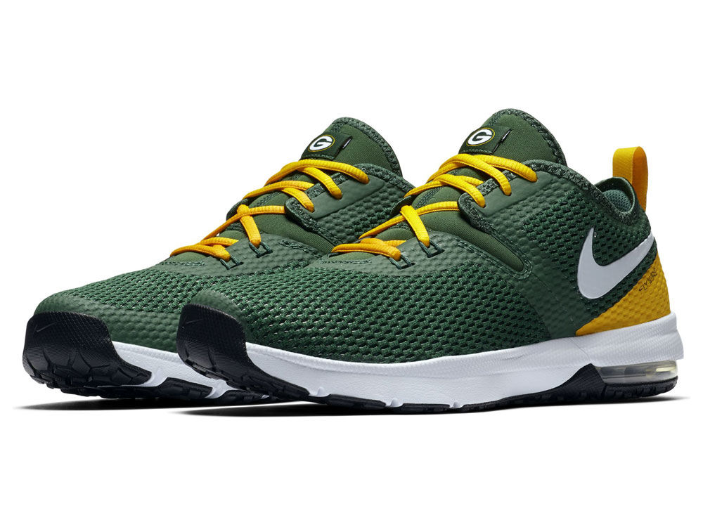 b30d3345462d Green Bay Packers Nike NFL Men s Air Max Typha 2 Week Zero Trainer Shoes