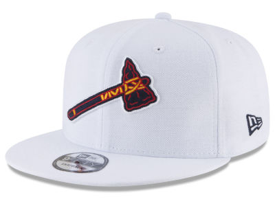 Atlanta Braves New Era MLB White 9FIFTY Snapback Cap