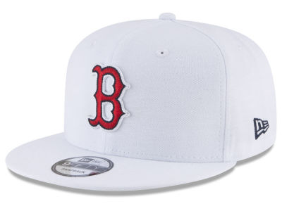 Boston Red Sox New Era MLB White 9FIFTY Snapback Cap