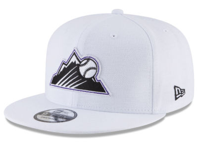 Colorado Rockies New Era MLB White 9FIFTY Snapback Cap