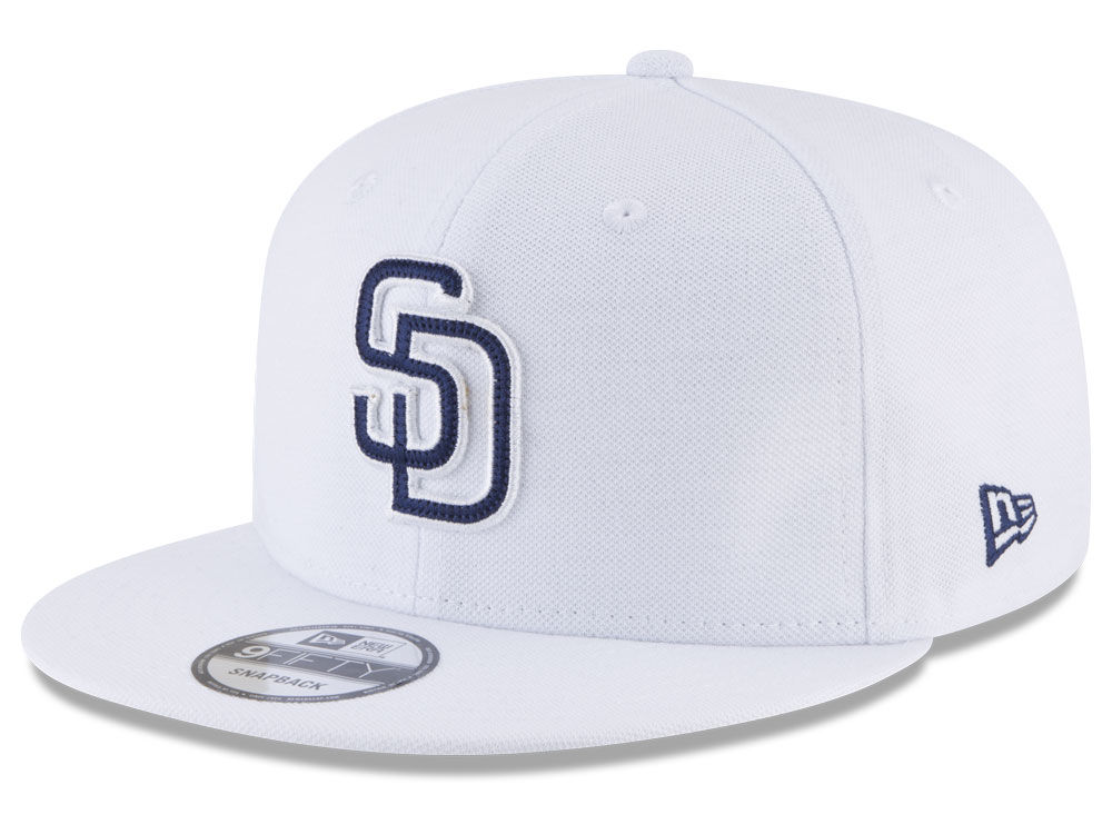 3c5cb3aa7f3 San Diego Padres New Era MLB White 9FIFTY Snapback Cap