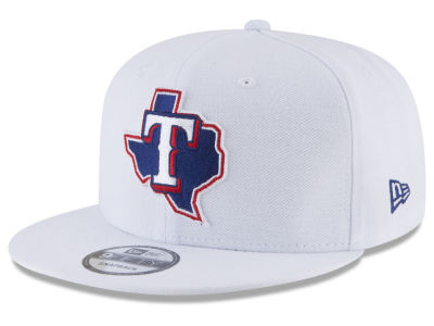 Texas Rangers New Era MLB White 9FIFTY Snapback Cap