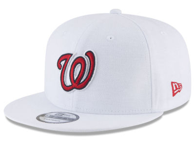 Washington Nationals New Era MLB White 9FIFTY Snapback Cap