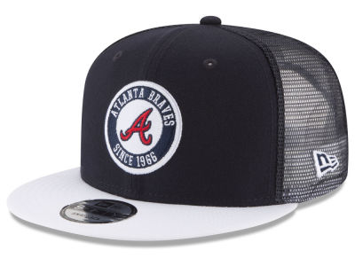 Atlanta Braves New Era MLB Circle Patch 9FIFTY Snapback Cap