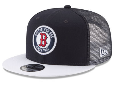 Boston Red Sox New Era MLB Circle Patch 9FIFTY Snapback Cap