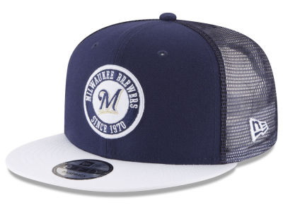 Milwaukee Brewers New Era MLB Circle Patch 9FIFTY Snapback Cap