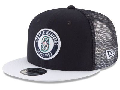 Seattle Mariners New Era MLB Circle Patch 9FIFTY Snapback Cap