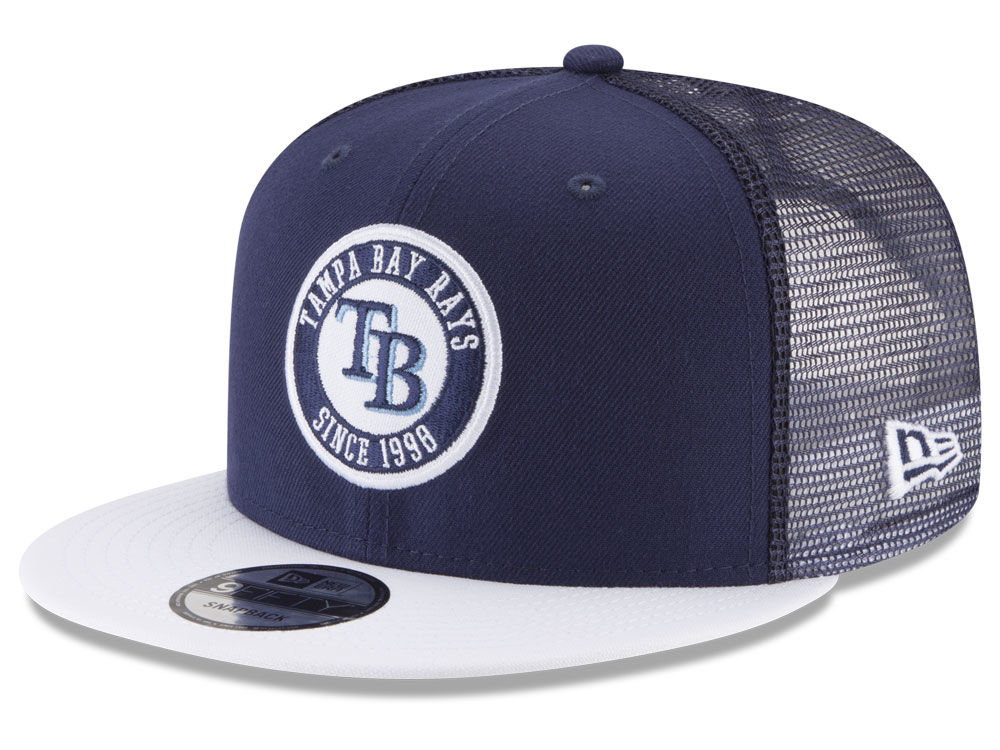 Tampa Bay Rays New Era MLB Circle Patch 9FIFTY Snapback Cap  03627fd6880