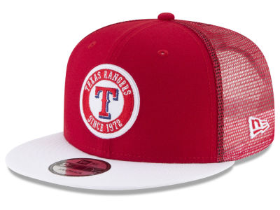 Texas Rangers New Era MLB Circle Patch 9FIFTY Snapback Cap