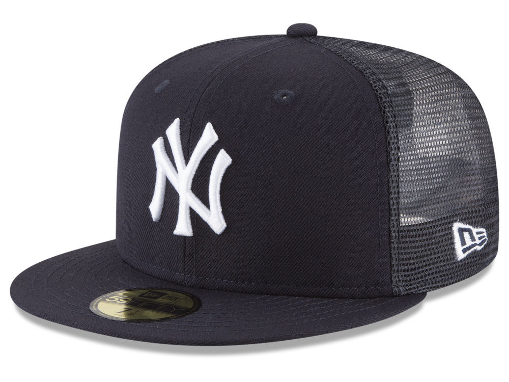 b1e2ee94188 New York Yankees New Era MLB On-Field Mesh Back 59FIFTY Cap