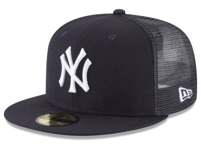 New York Yankees New Era MLB On-Field Mesh Back 59FIFTY Cap 406f83d032d