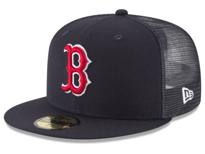 Boston Red Sox New Era MLB On-Field Mesh Back 59FIFTY Cap