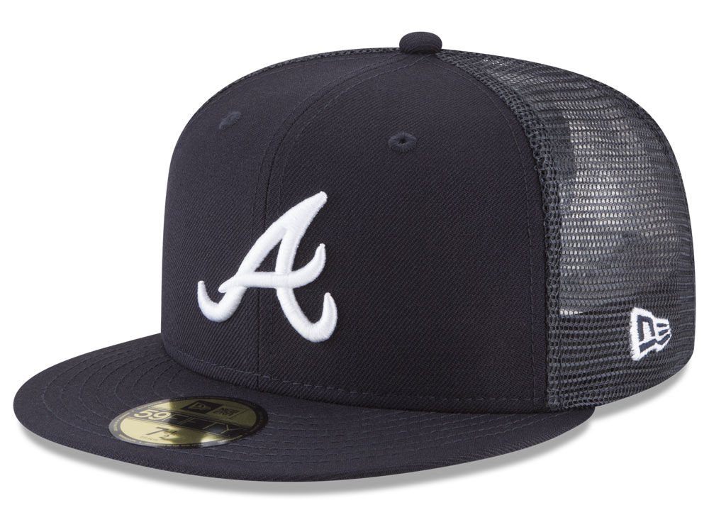 Atlanta Braves New Era MLB On-Field Mesh Back 59FIFTY Cap  cada6c2066c