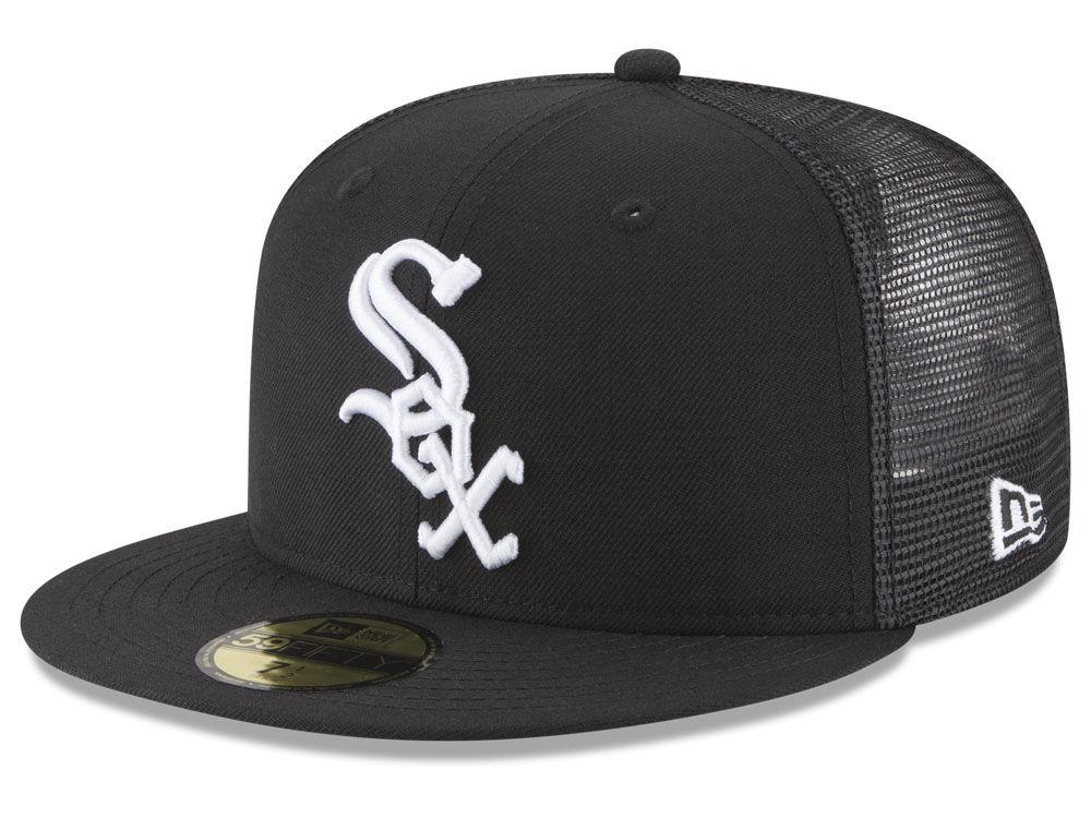 Chicago White Sox New Era MLB On-Field Mesh Back 59FIFTY Cap   lids.com f892fa702b