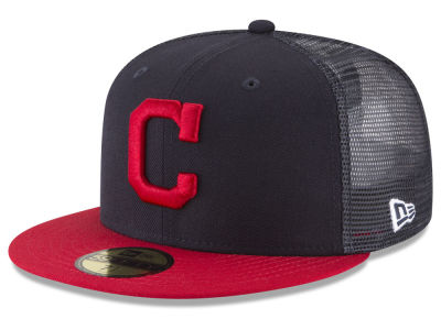 Cleveland Indians New Era MLB On-Field Mesh Back 59FIFTY Cap