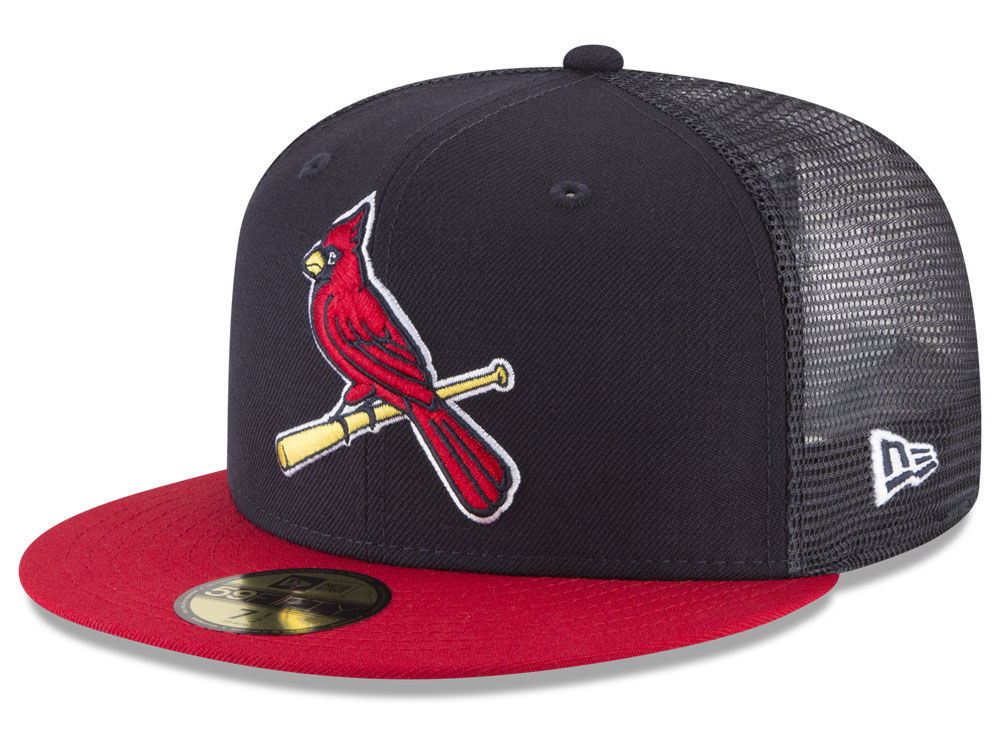 St. Louis Cardinals New Era MLB On-Field Mesh Back 59FIFTY Cap ... 66d12e95ca6