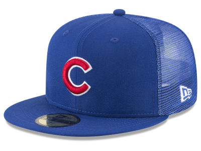 Chicago Cubs New Era MLB On-Field Mesh Back 59FIFTY Cap