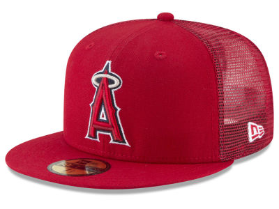 Los Angeles Angels New Era MLB On-Field Mesh Back 59FIFTY Cap