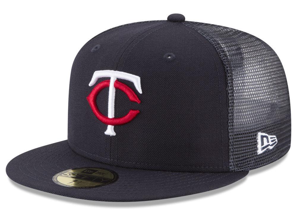 Minnesota Twins New Era MLB On-Field Mesh Back 59FIFTY Cap  6d985947076f