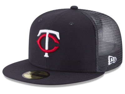Minnesota Twins New Era MLB On-Field Mesh Back 59FIFTY Cap f17188f3c09f