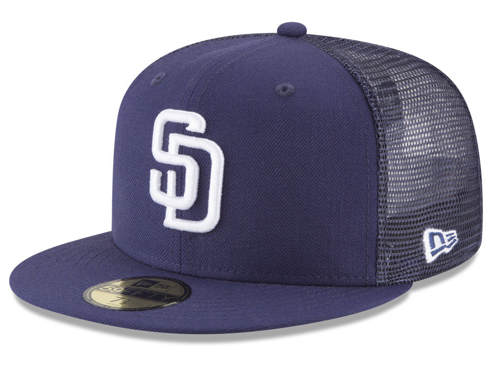 San Diego Padres New Era MLB On-Field Mesh Back 59FIFTY Cap  99b1540f01e