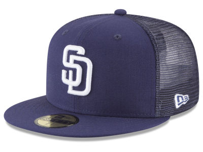 San Diego Padres New Era MLB On-Field Mesh Back 59FIFTY Cap