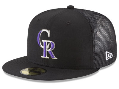 Colorado Rockies New Era MLB On-Field Mesh Back 59FIFTY Cap