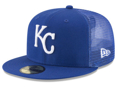 Kansas City Royals New Era MLB On-Field Mesh Back 59FIFTY Cap